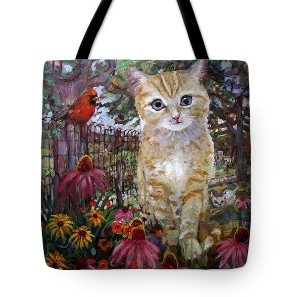 Front Yard Kitty Tote Bag