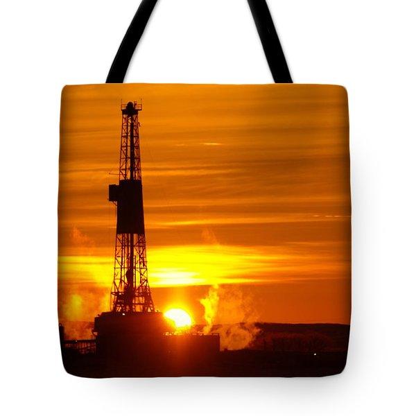 Frontier Nineteen Xto Energy Culbertson Montana Tote Bag
