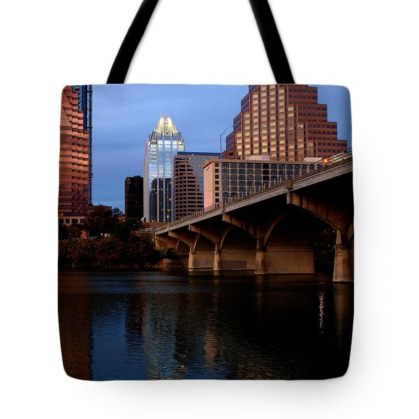 Frost Across The River Tote Bag