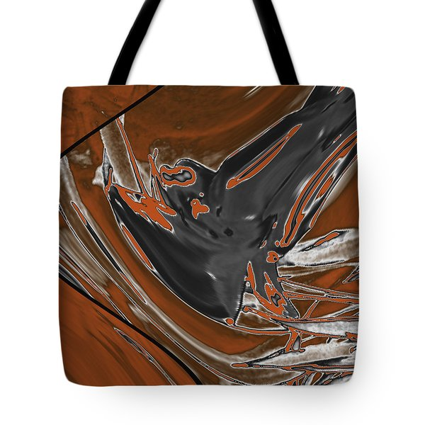Tote Bag featuring the digital art Frost And Woodsmoke 1 by Judi Suni Hall