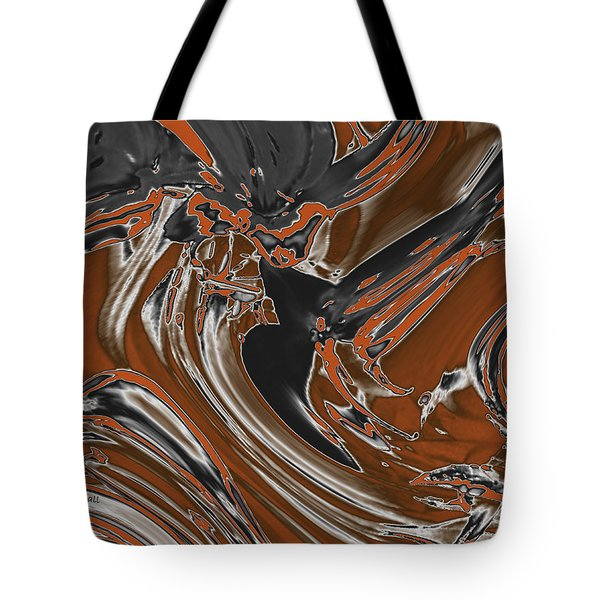 Tote Bag featuring the digital art Frost And Woodsmoke  by Judi Suni Hall