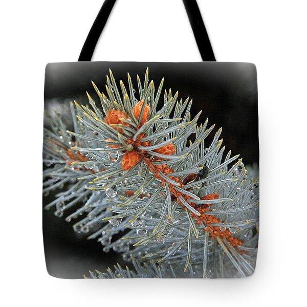 Frost Drops Tote Bag by Bob Hislop