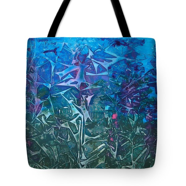 Lagoon Bloom Tote Bag by Heather  Hiland