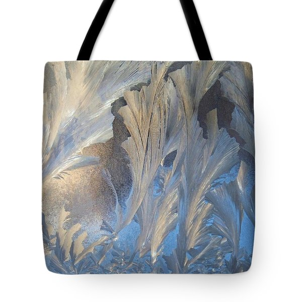 Frost On The Window Pane Tote Bag by Joy Nichols