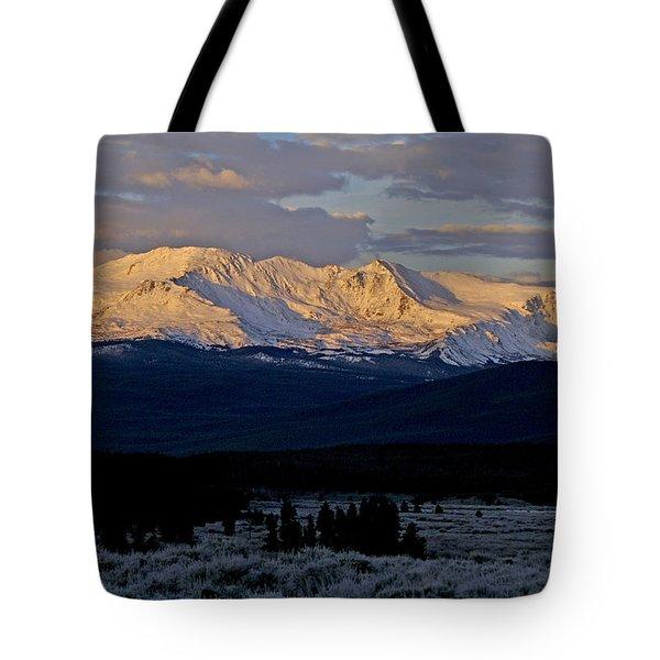 Frost Settles In Tote Bag by Jeremy Rhoades