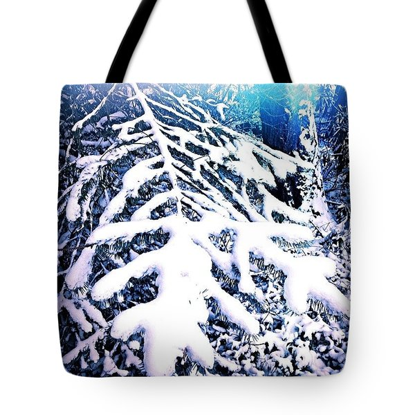 Frosted Blue Spruce Tote Bag