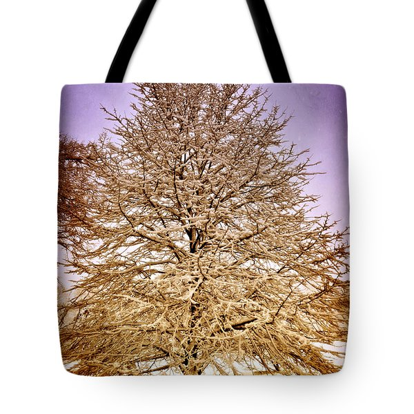 Frosted Branches Tote Bag by Marty Koch