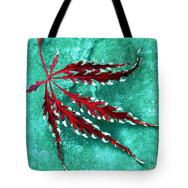 Frosted Japanese Maple Tote Bag