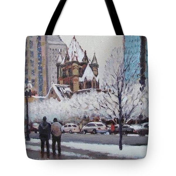 Frosted Trinity Tote Bag by Dianne Panarelli Miller