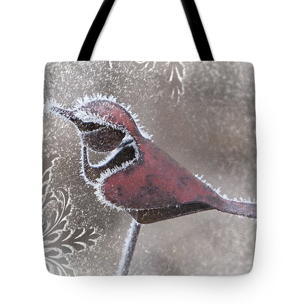 Tote Bag featuring the photograph Frosty Cardinal by Patti Deters