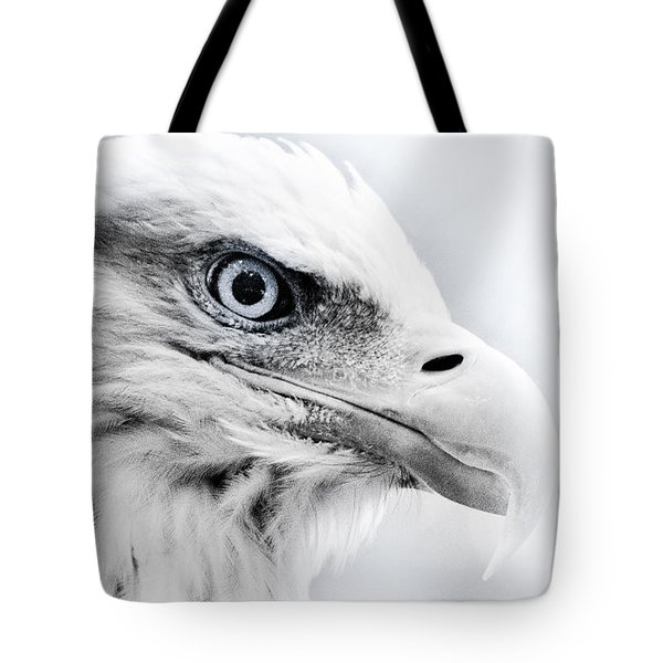Frosty Eagle Tote Bag by Shane Holsclaw