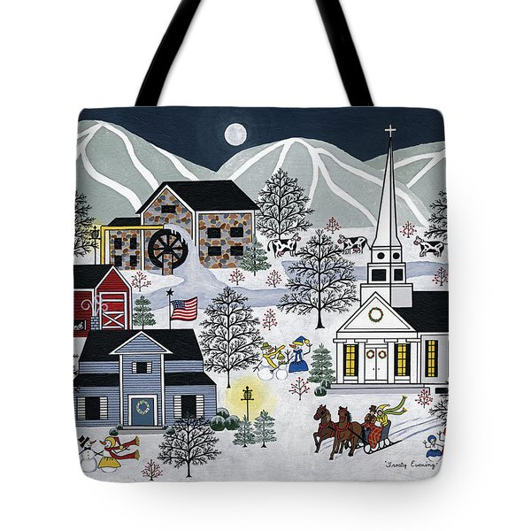 Frosty Evening Tote Bag by Medana Gabbard