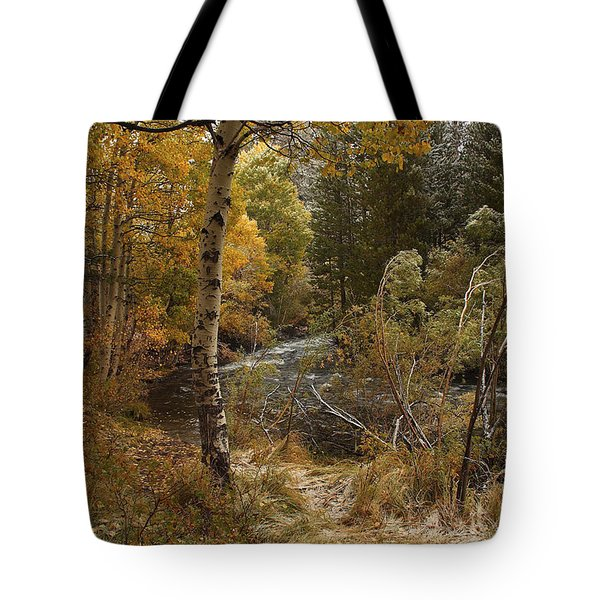 Frosty Fall  Morning Tote Bag