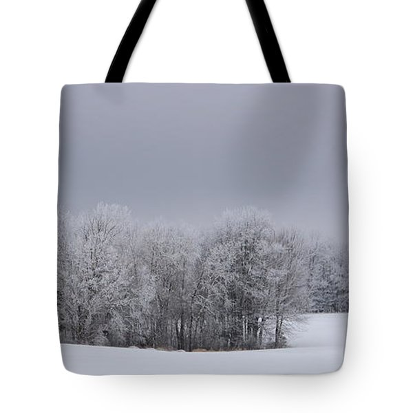 Frosty Farm Fields Tote Bag