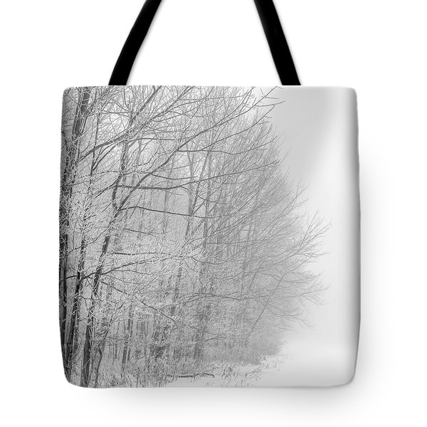 Frosty Forest Frontier Tote Bag