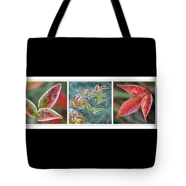 Frosty Leaves Tote Bag by Gill Billington