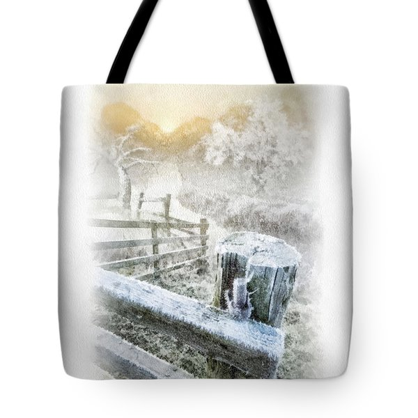 Frosty Morning Tote Bag by Mo T