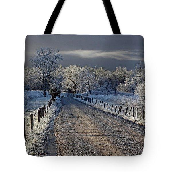 Frosty Sparks Lane Tote Bag