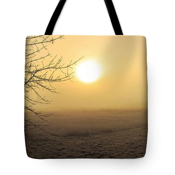 Frosty Sunrise Tote Bag