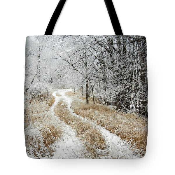 Frosty Trail Tote Bag
