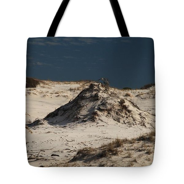 Frosty White Dunes Tote Bag by Adam Jewell