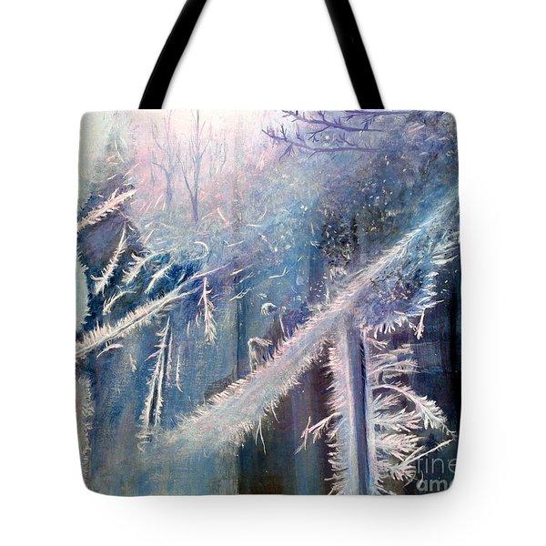 Frosty Window Dressing Tote Bag