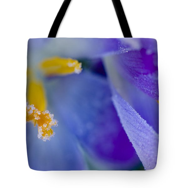 Frozen Crocus Tote Bag