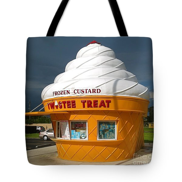 Frozen Custard Before The Storm Building Tote Bag