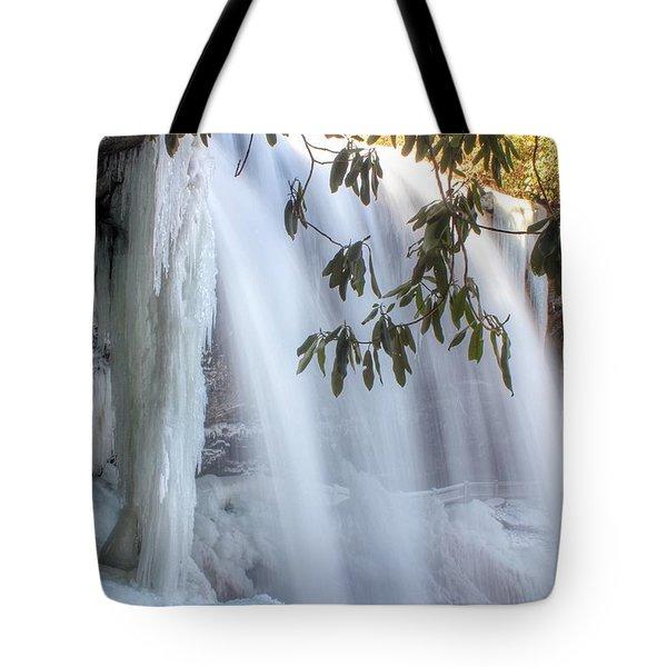 Frozen Dry Falls Tote Bag