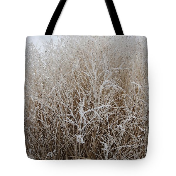 Frozen Grass Tote Bag by Debbie Hart