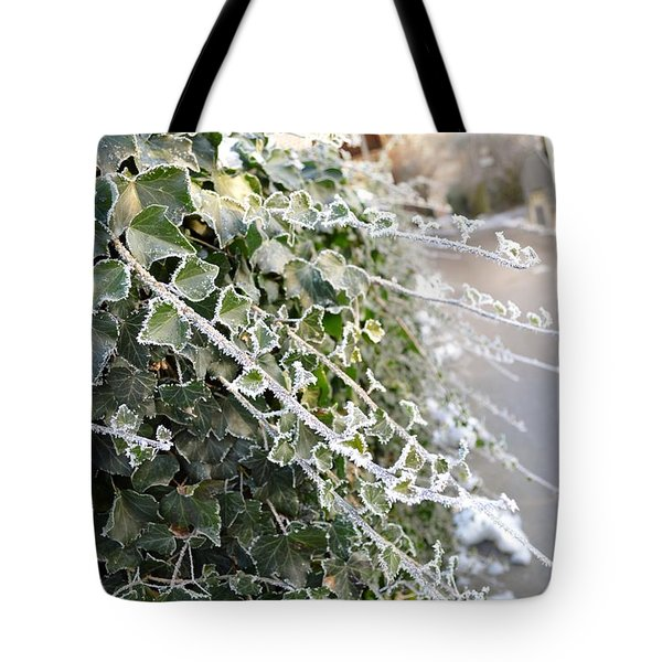 Tote Bag featuring the painting Frozen Hedera Helix by Felicia Tica