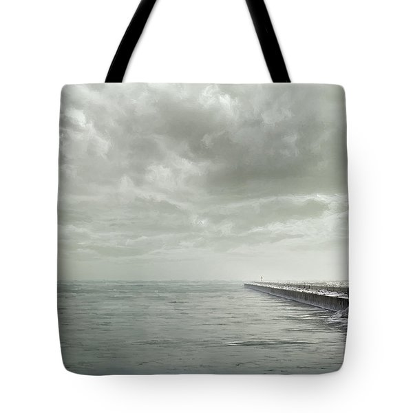 Frozen Jetty Tote Bag