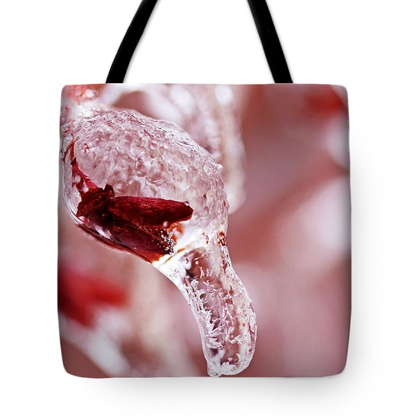 Tote Bag featuring the photograph Frozen Jewel  by Debbie Oppermann