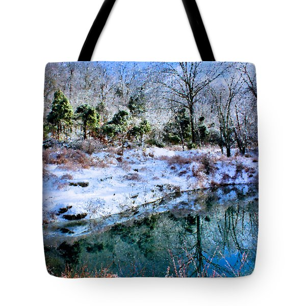 Frozen Tote Bag by Kristin Elmquist