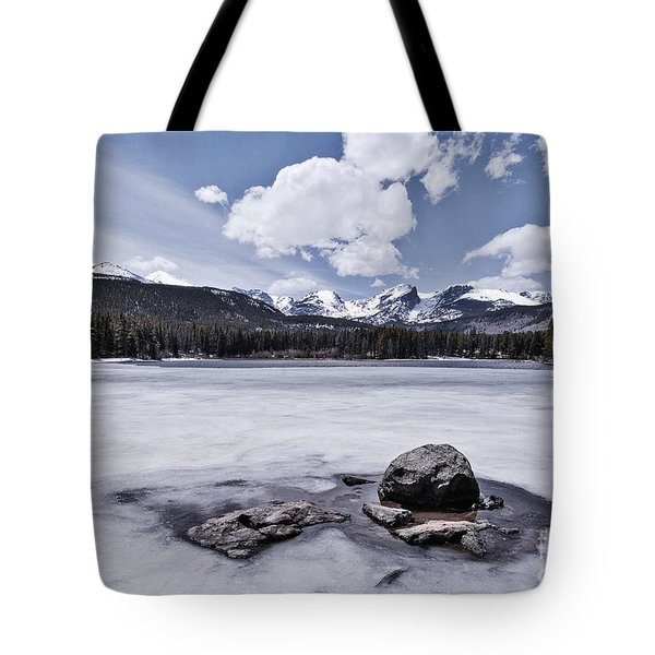 Tote Bag featuring the photograph Frozen Lake by Mae Wertz