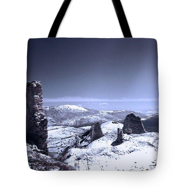 Frozen Landscape Tote Bag