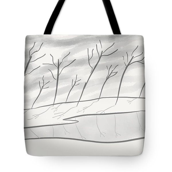 Frozen Landscape Tote Bag by Stacy C Bottoms