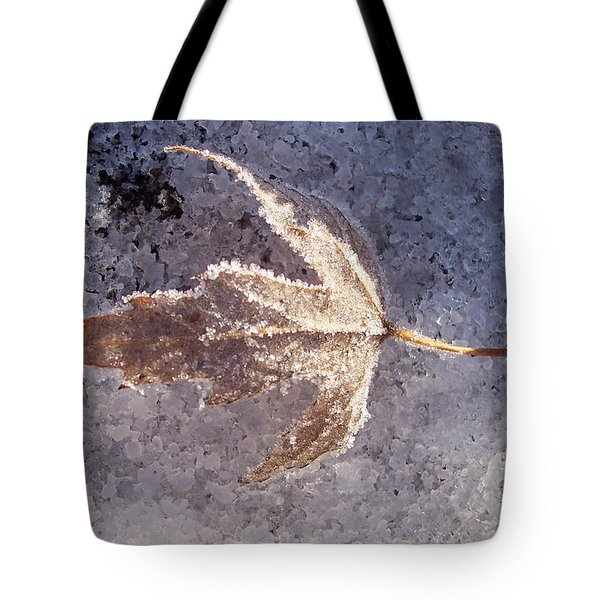 Frozen Leaf Tote Bag by Richard Bryce and Family