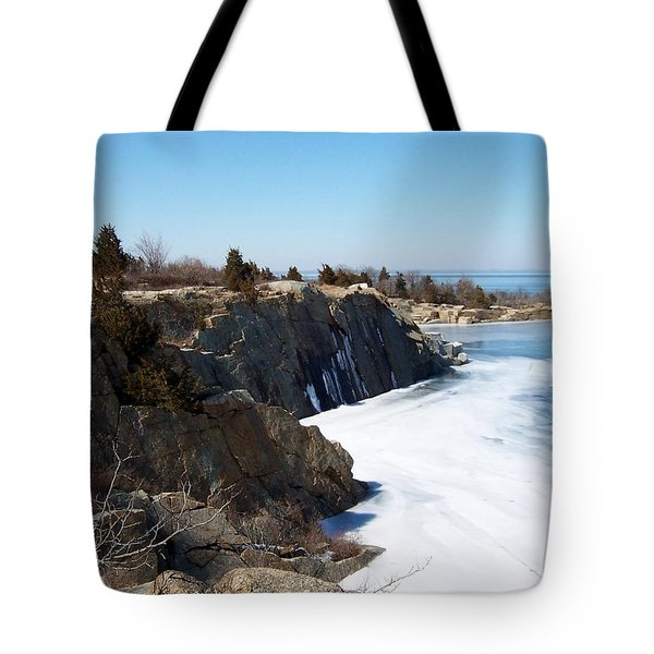 Frozen Quarry Tote Bag by Catherine Gagne
