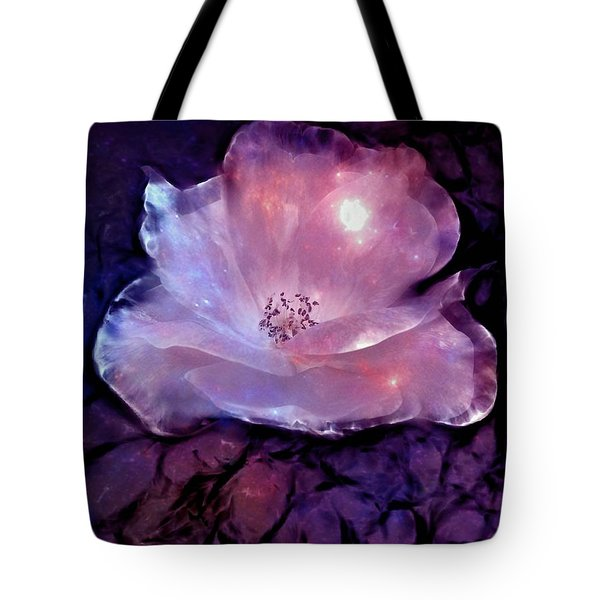 Frozen Rose Tote Bag by Lilia D