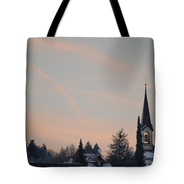 Tote Bag featuring the photograph Frozen Sky 2 by Felicia Tica