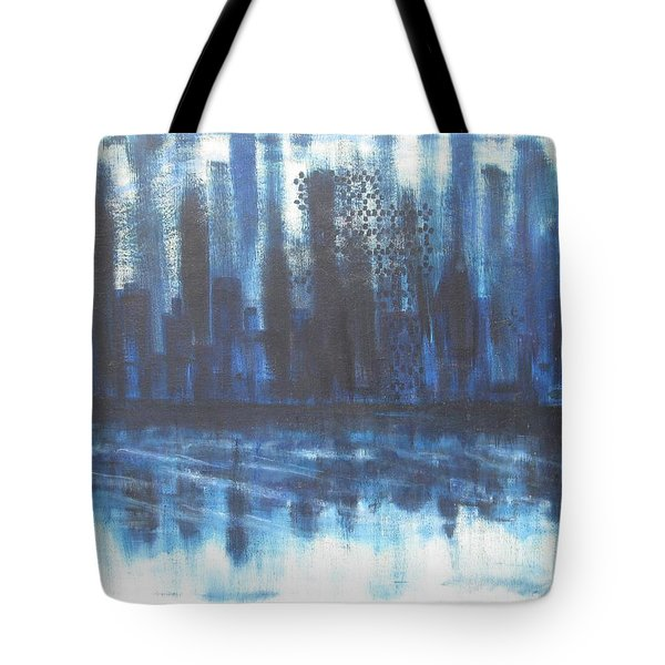 Frozen Skyline Tote Bag