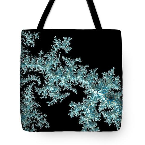 Tote Bag featuring the digital art Frozen by Susan Maxwell Schmidt