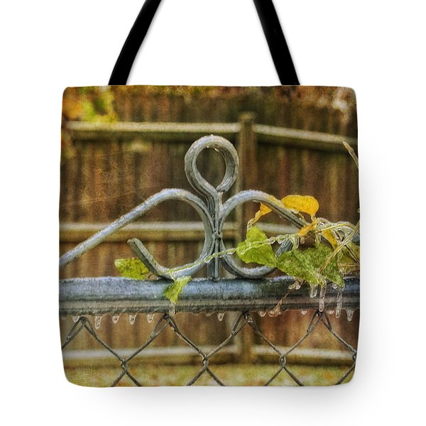 Frozen To The Gate Tote Bag by Joan Bertucci