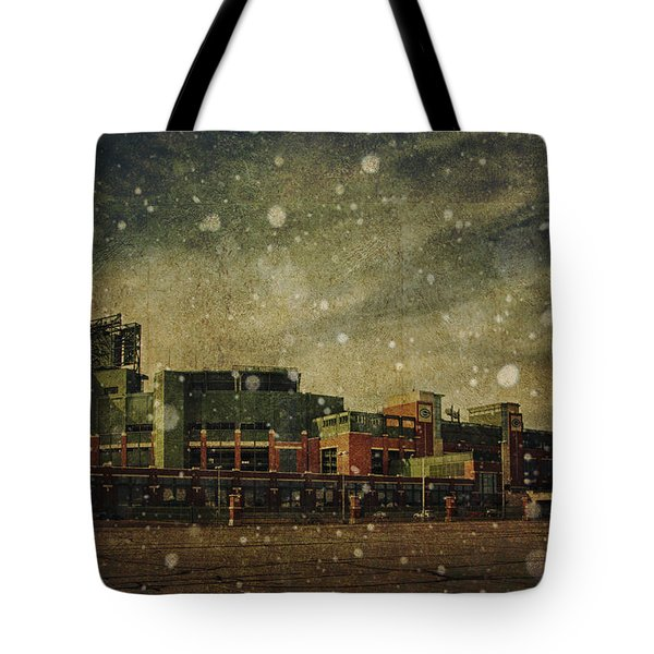 Frozen Tundra Part II - Lambeau Field Tote Bag