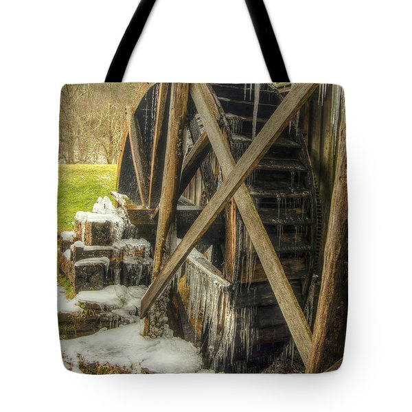 Frozen Water Wheel Tote Bag