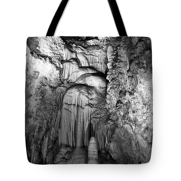 Frozen Waterfall In Carlsbad Caverns Tote Bag