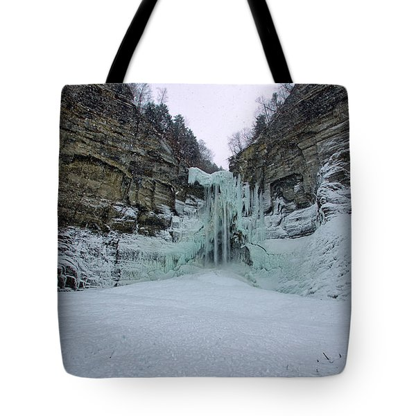 Frozen Waterfalls Tote Bag