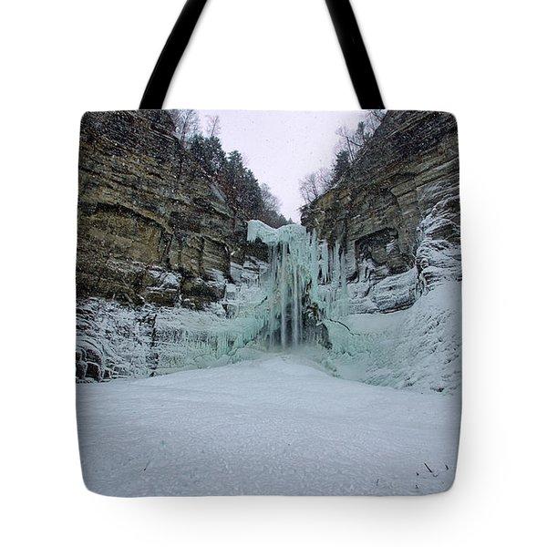 Frozen Waterfalls Tote Bag