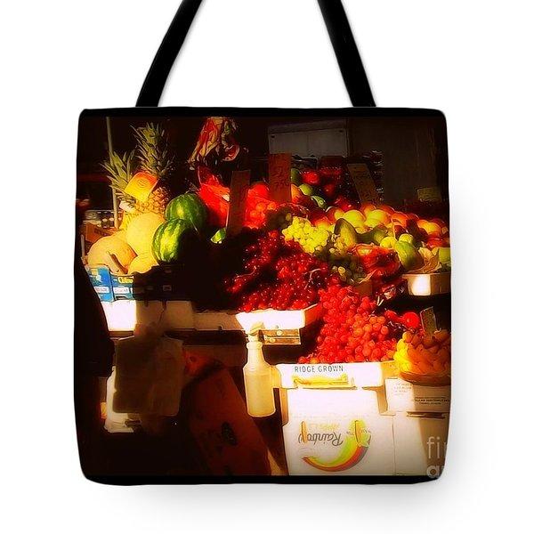 Fruit A La Caravaggio Tote Bag by Miriam Danar